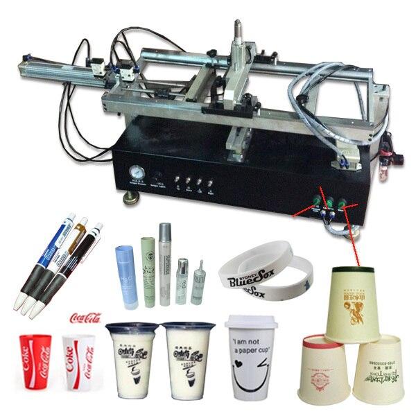 Небольшая автоматическая пластиковые бутылки печатная машина экрана, бутылки экран принтера