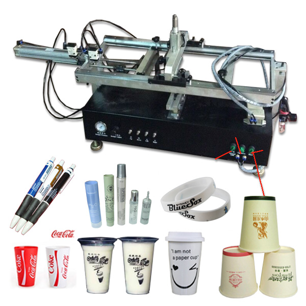 small automatic plastic bottles screen printing machine, bottles screen printer automatic silicon wristband screen printing machine automatic screen printer for single color