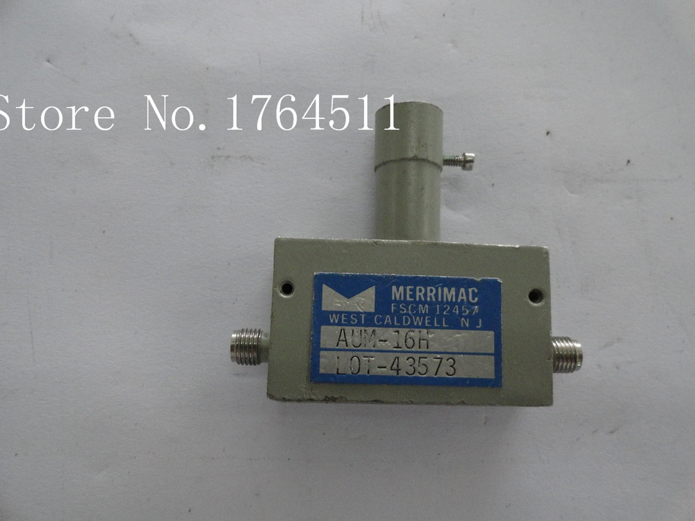 [BELLA] Supply Adjustable Variable Attenuator MERRIMAC AUM-16H 0-15dB 7-11GHz Extension