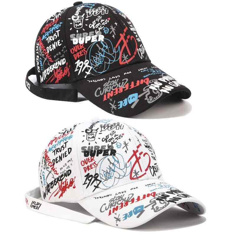 7da9a6881a8 Baseball Cap Graffiti Sun Caps Hip Hop Cap Visor Spring Hat Men Adjustable  Snapback Cotton Cap