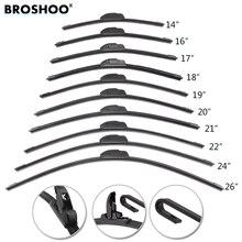 BROSHOO Universal U HOOK Auto Car Wiper Blades 14161718192021222426 Natural Rubber Strip Windscreen Windshield