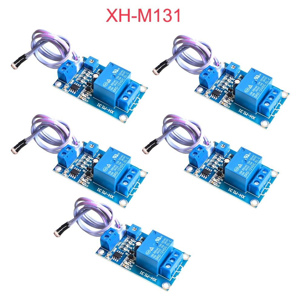 5Pcs XH-M131 DC 12V Light Control Switch Photoresistor Relay Module Detection Sensor 10A Brightness Automatic Control Module