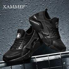 Xammep zapatos informales de malla para hombre, mocasines transpirables, sin cordones, talla grande, para primavera y otoño