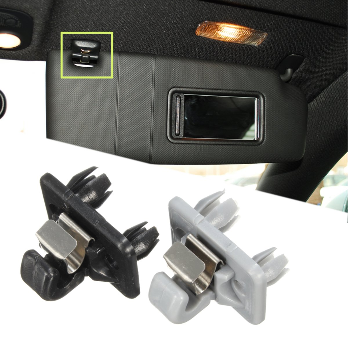 Black /Grey Plastic Auto Sun Visor Clip Holder Hook Stand For Audi A1 A3 A4  A5 Q3 Q5 TT Interior 8U0857562A-in Interior Mouldings from Automobiles ...
