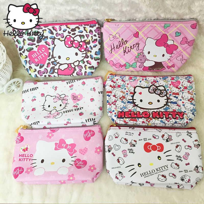 Милый мультяшный кошелек hello kitty, кошелек hello kitty, женские кожаные кошельки, женский клатч, кошелек, детский держатель для карт, плюшевый рюкзак