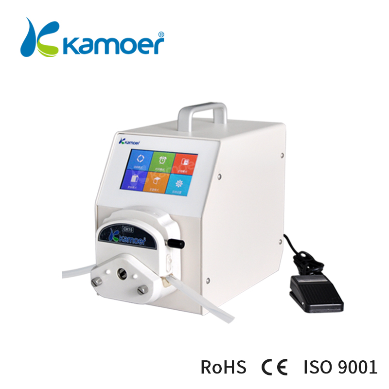 Kamoer Peristaltic Pump with Step Motor, High Accuracy/Precision, High Flow Rate, Foot Switch Support, Food Safe, Touch Screen kamoer khs high precision dc motor peristaltic pump with norprene tube for garden watering and sweeping robots