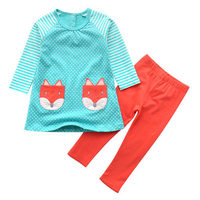 Jumping Meters Fox Clothing Set 2018 Brand Toddler Cotton Girls Clothes Character Tracksuit Kids Costumes Fille Outfits Moana