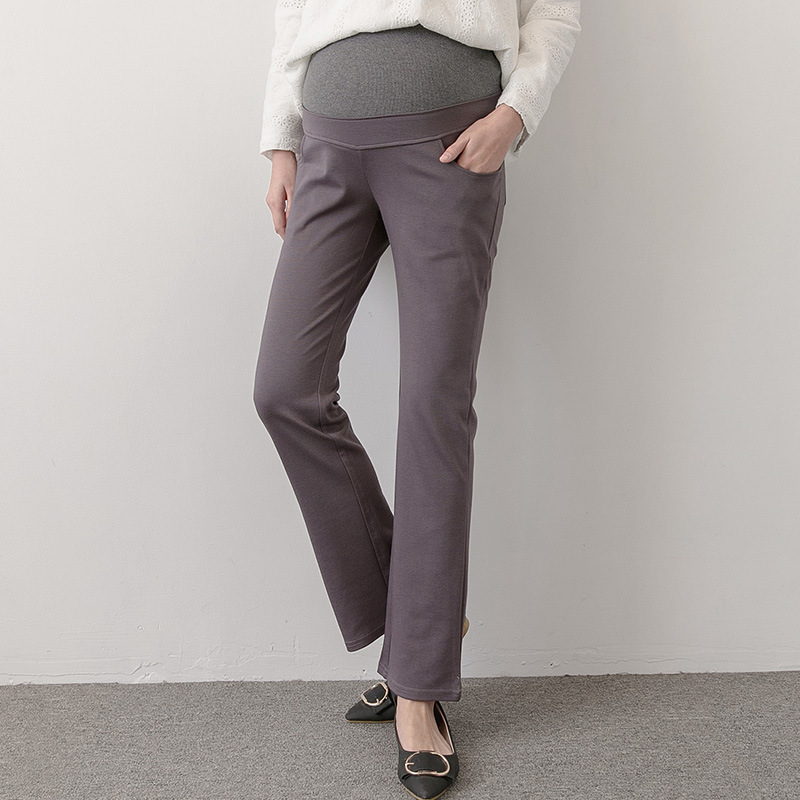 Spring Pants For Pregnant Women Clothes Nursing Trousers Maternity Pants Belly Trousers Spring Maternity Clothes H58