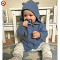 2016 Autumn/Winter Kids Girls Hooded Cardigan Double Breasted Cotton Sweater For Children Boy Baby Girl Soft Knit Jumper Clothes