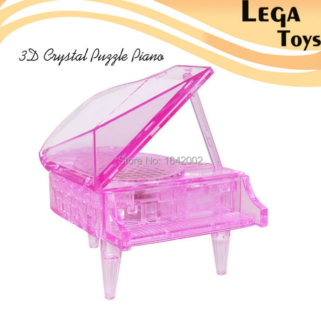 3D Crystal Puzzle Loaded Piano DIY Assembly Toys for Children educational Creative Toys for Kids and Adults best Gift