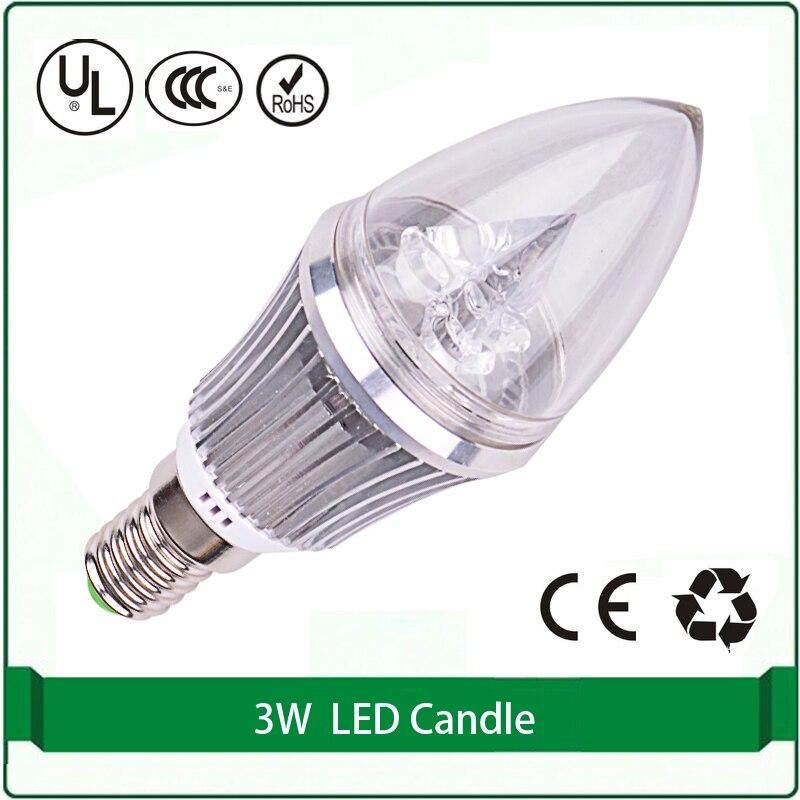 2pcs high power 3x1 W led lights candle bulb E12 E14 candle lamp cri 80 280lm 3000k 4000k 6000k