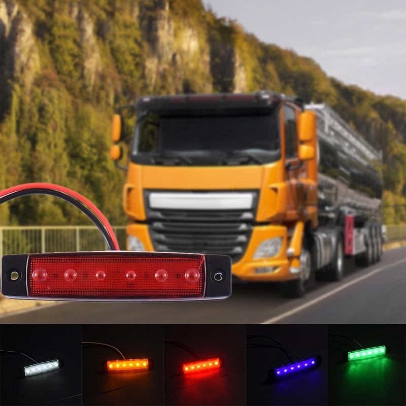 5Pcs / lot Led Car 12V 6SMD LED Yan Marker Göstərici Yük maşını - Avtomobil işıqları - Fotoqrafiya 5