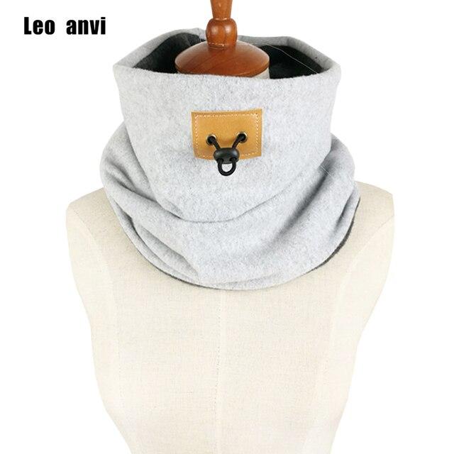 Leo anvi diseño marca 10 unids chunky hombres capucha gruesa bufanda ...