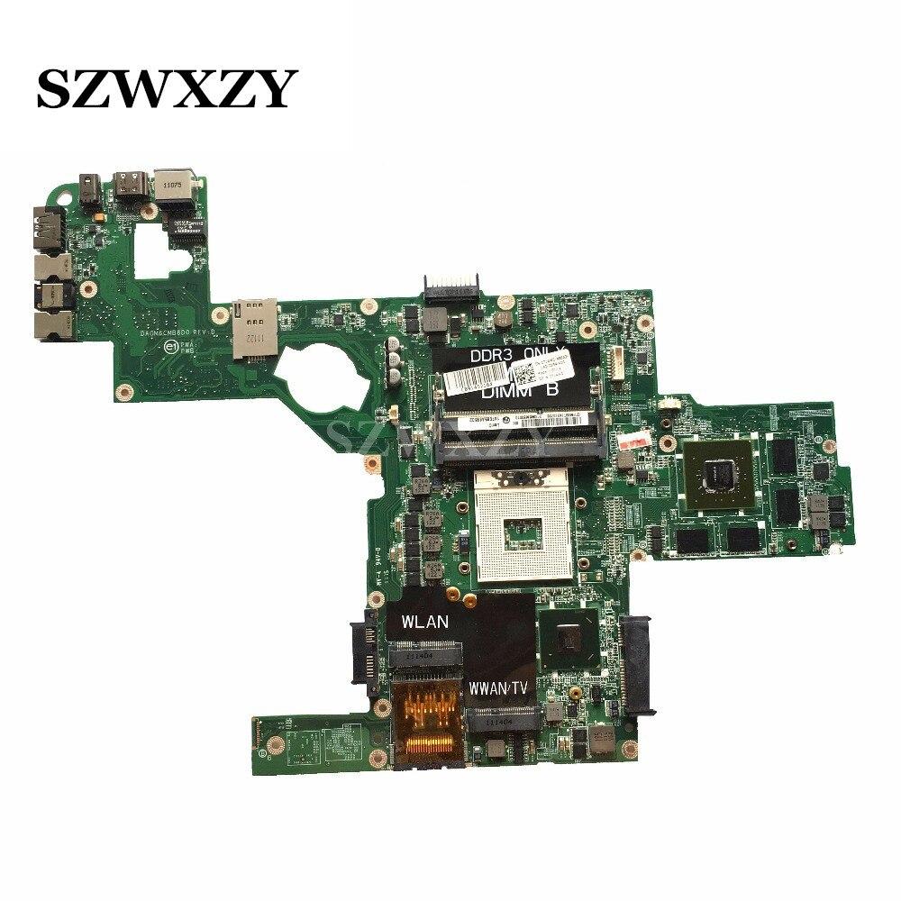 Материнская плата для ноутбука DELL L502X, системная плата Φ 714WC DAGM6CMB8D0 HM65 GT540M/2 Гб, поддержка процессора i7