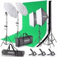 Neewer 2,6x3 м система держателей фотофона и 800 Вт 5500 К зонтики Softbox Набор для непрерывного освещения для фотостудии код