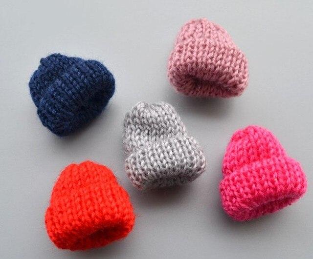 Mini Knitting Flower Candy For Diy Hair Accessories Newborn Handmade