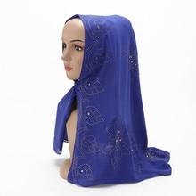 New Turban Hat Muslim Hijab Islamic Beads Cancer Chemo Cap Ladies Stretch Scarf Women Head Turbans