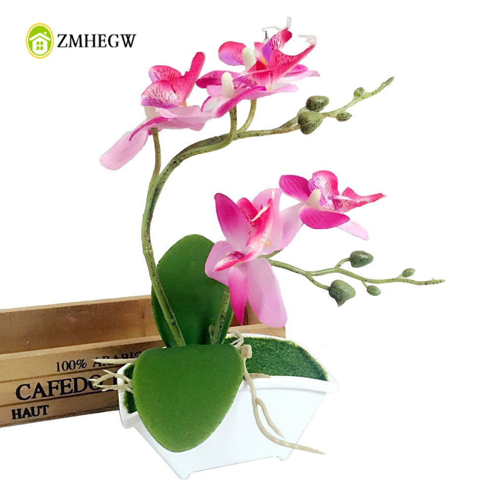 2018 hot double fork butterfly orchid plant bonsai for Arranging accessories