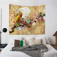 Large Size Cloth Art Wall Hanging Tapestry Picnic Mats Curtain Bed Sheets 3 Models Abstract Art Painting Wall Background Decor(China)