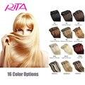 7Pcs Full Head Set Brazilian Virgin Hair Clip In Hair Extensions 16 Color Rita clips Natural Human Hair Clip In Hair Extensions