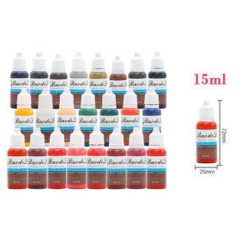 23 Colors 15ml/Bottle Tattoo Ink Permanent Body Arts Paint Micro Pigment Eyebrow Eyeliner Lip Body Tattoo Art Beauty Tools