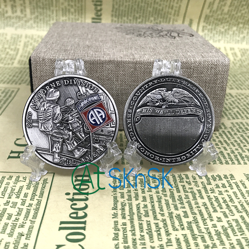 Wholesale 50/100pcs/lot 82nd Airborne Division All Americans U.S. Army Challenge Coin NEW