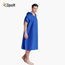 Zipsoft Beach Towel Microfiber Hooded poncho towel Bathrobe Poncho Hooded Absorbent Quick drying Easy for Changing Cloth 2019new(China)