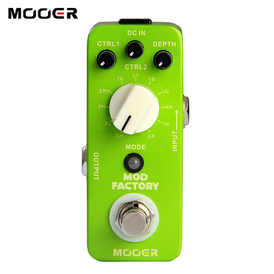 Guitar Effectors MOOER True Bypass Micro Series Mod Factory Effects Pedal for Guitar / Electric Guitar Pedal mooer ensemble queen bass chorus effect pedal mini guitar effects true bypass with free connector and footswitch topper