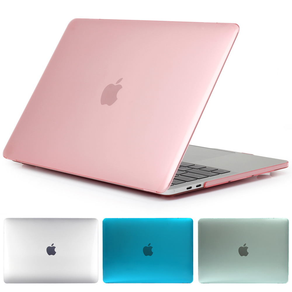 Crystal Laptop Case bag For MacBook 12/ Air 11.6 13.3/ Pro Retina 13 15 inch with Touch Bar 2016 New+ Transparent Keyboard Cover