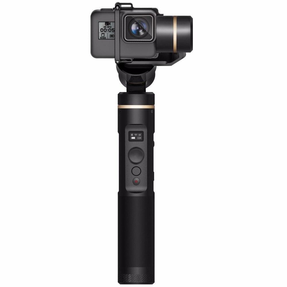 FeiyuTech G6 Cardan pour Gopro Hero 6/5 Sony RX0 Camera Action, Mise À Jour Version de G5 Wifi + Bleu Dent OLED Écran Angle D'élévation