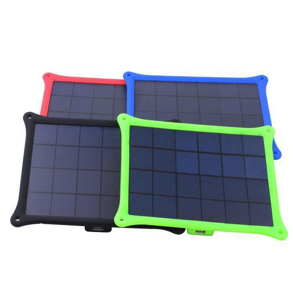 Solar Charger Portable Outdoor Hiking Bicycle Cycling 5W Solar Energy Power Charger Panel USB Port powerbank For iPhone7 6s