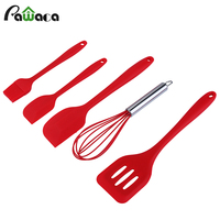 Bakeware Set Kitchen Tools 5pcs Silicone Kitchen Tools Utensils Brush Egg beater Spatulas Spoon Slotted baking & pastry tools