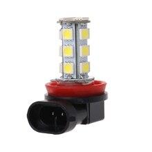 H11 H8 18 светодиодный 5050 SMD светодиодные лампы 12V Автомобильные дневные ходовые Противотуманные фары ксенон белый светодиодный светильник