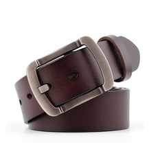 Mens Belt Cow Leather Men Fashion Male Genuine Strap Luxury Buckle Casual Business Gift For Husband Boyfriend