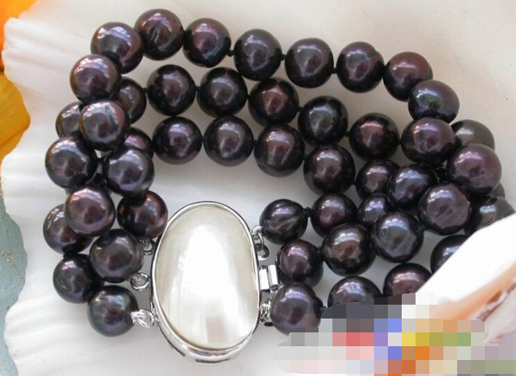 Hot sell ->@@ 0641 3row 8 black round FRESHWATER PEARL bracelet mabe -Top quality free shipping 20pcs lot irf5210 irf 5210 good quality hot sell free shipping buy it direct