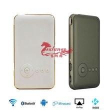 Moblie Teléfono DLP MINI Proyector Led Proyector Construido en 5000 mah Batería Andriod Miracast Blutooth 3D Projetor Proyector Portátil