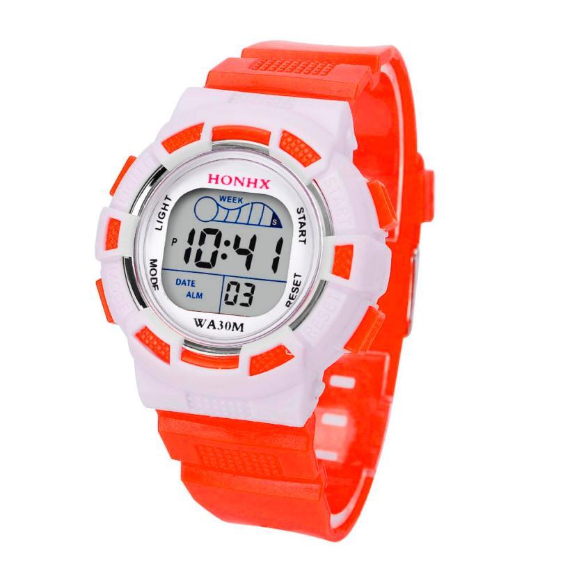 Hot Sale Children Boys Digital LED Sportssmart watch kids waterproof Alarm Date Watch Gift drop shipping