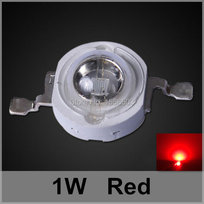 200 Pcs/lot LED Chip Beads 1W Red High Power LEDs Balls Light Source LED Grow Lamp Emitting Diode