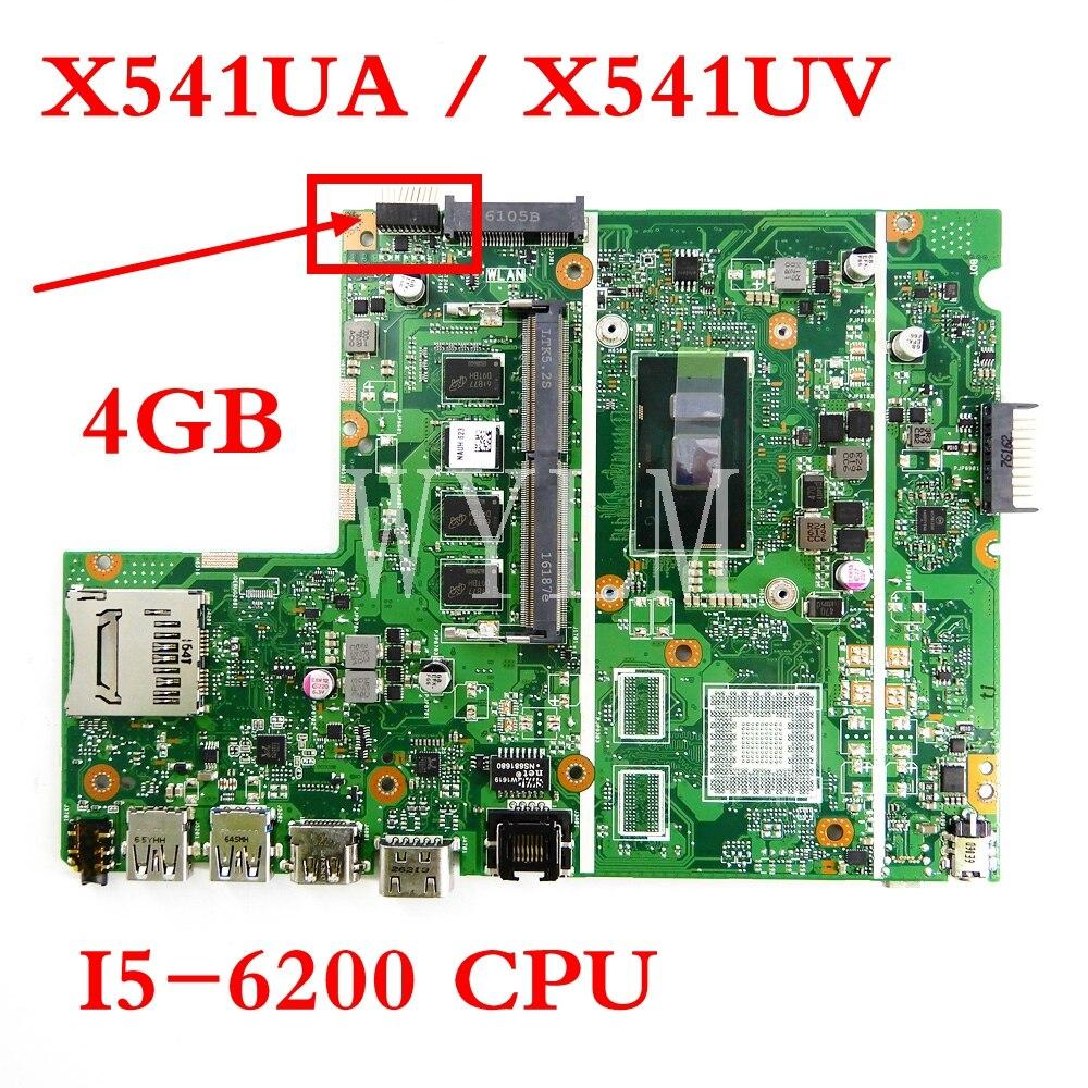 X541UA 4 Гб памяти с i5-6200CPU материнская плата REV2.0 для ASUS X541UV X541UA X541U Материнская плата ноутбука тестирование работы Бесплатная доставка