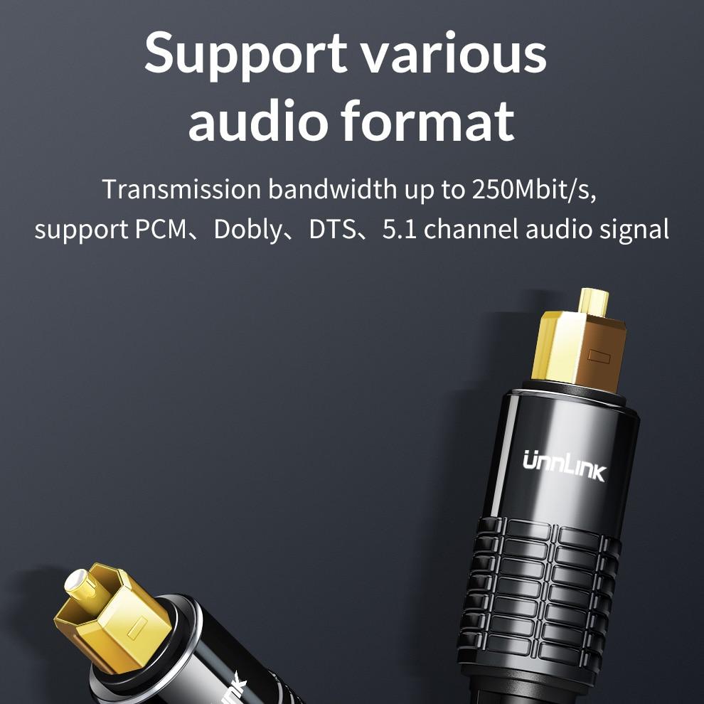 Image 4 - Unnlink SPDIF Toslink Optical Cable Audio 3m 5m 8m 10m HIFI 5.1 Fiber for TV box PS4 Speaker Wire Soundbar Amplifier Subwoofer