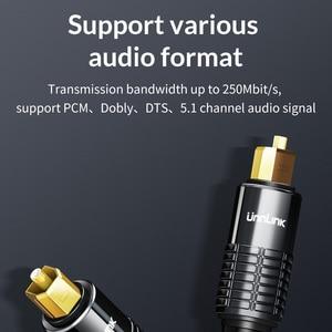 Image 4 - Unnlink Spdif Toslink Optische Kabel Audio 3M 5M 8M 10M Hifi 5.1 Fiber Voor Tv Box PS4 Luidsprekerkabel Soundbar Versterker Subwoofer