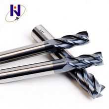 JF GES milling cutter D1*3*4*50*4T   Solid carbide 4 flute flattened end mills with straight  shank   HRC70  PT Coated 5pcs lot free shipping zcc gm 4e d2 0s cemented carbide 4 flute 2mm flattened end mills with straight shank cnc milling cutter