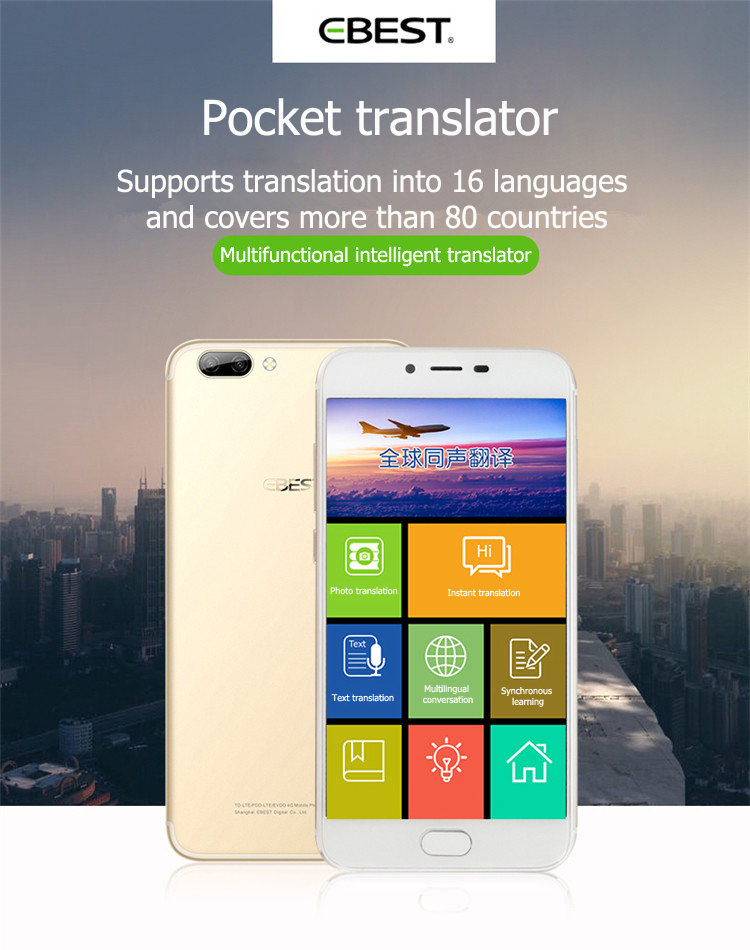 EBEST Q7 simultaneous translator 32g 32g expansion card supports 16 languages with telephone functions Global Travel Assistant in Translator from Consumer Electronics