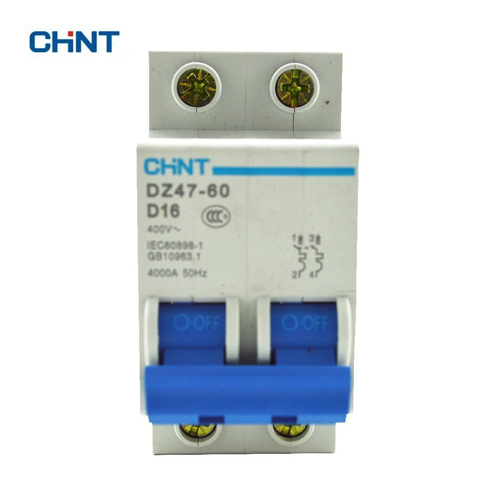 CHINT 2P  Miniature Circuit Breaker Mini DZ47-60 D16 Residual Current