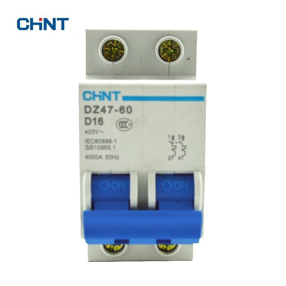 все цены на CHINT 2P Miniature Circuit Breaker Mini Circuit Breaker DZ47-60 2P D16 Residual Current Circuit Breaker онлайн