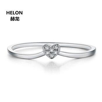 Certificado SI/H diamantes naturales mujeres compromiso boda anillo sólido 14k oro blanco aniversario banda fiesta joyería fina regalo