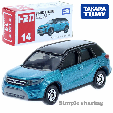tomica 14 suzuki vitara escudo 1 63 6 cm suv veiculo utilitario esportivo takara tomy
