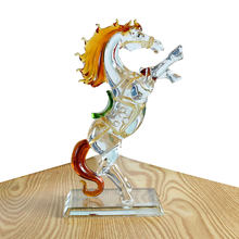 Crystal Glass Horse Figurine Collection Horse Animal Paperweight Table Ornament Decor Kids Birthday Gifts(China)