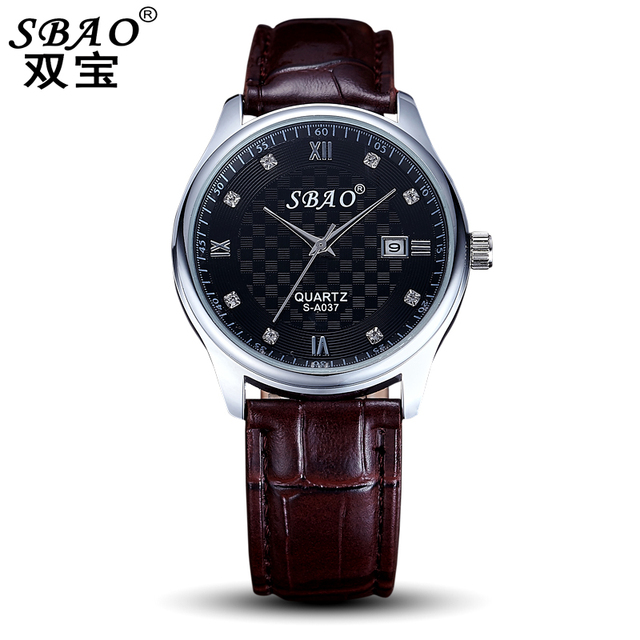 Sbao Fashion Men Nk Watch Water Resistant Calendar Leather Wrist Watches  For Men Mens Watches Uk 8621d9909