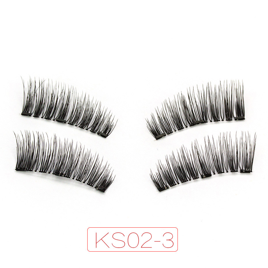 <font><b>Shozy</b></font> <font><b>Magnetic</b></font> <font><b>eyelashes</b></font> with 3 magnets handmade 3D/6D magnet lashes natural false <font><b>eyelashes</b></font> comfortable with gift box-KS02-3 image